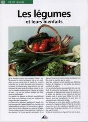 Petit Guide T.212 ; Les Légumes Et Leurs Bienfaits - Couverture - Format classique