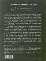 Le mystérieux docteur Cornélius t.13 et t.14 - 4ème de couverture - Format classique