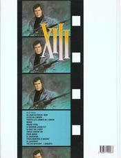 XIII T.3 ; toutes les larmes de l'enfer - 4ème de couverture - Format classique