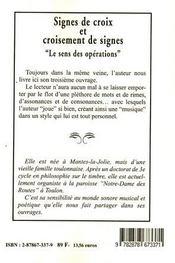 Signes De Croix Et Croisement De Signes - 4ème de couverture - Format classique