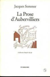 Prose D'Aubervilliers (La) - Couverture - Format classique