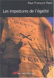 Impostures de l egalite - Intérieur - Format classique
