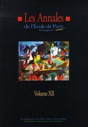 Les annales de l'epm t.12 ; travaux de l'année 2005 - Intérieur - Format classique