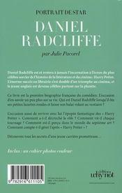 Daniel Radcliffe - 4ème de couverture - Format classique