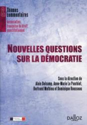 Nouvelles questions sur la démocratie - Couverture - Format classique