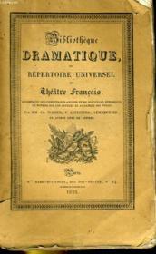 BIBLIOTHEQUE DRAMATIQUE, ou REPERTOIRE UNIVERSEL DU THEATRE FRANCAIS avec des remarques, des notices, et l'examen de chaque pièce - Auteurs du dix-huitième siècle TOME XXXVI, MERCIER TOME II (su la page de titre) ou TOME XII (sur le dos) - Couverture - Format classique