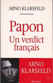 Papon: un verdictionnaire francais - Couverture - Format classique