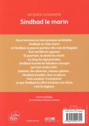 Sindbad le marin - 4ème de couverture - Format classique