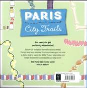 City trails ; Paris (édition 2016) - 4ème de couverture - Format classique