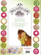 Les filles au chocolat T.4 ; coeur coco - 4ème de couverture - Format classique