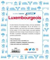 Luxembourgeois ; débutants - 4ème de couverture - Format classique