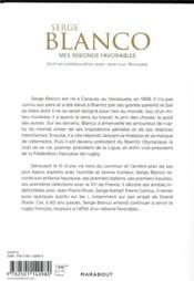 Serge Blanco : mes rebonds favorables - 4ème de couverture - Format classique