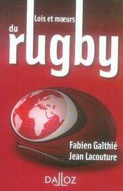 Lois et moeurs du rugby - Intérieur - Format classique