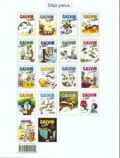 Calvin et Hobbes T.9 ; on n'arrête pas le progrès ! - 4ème de couverture - Format classique