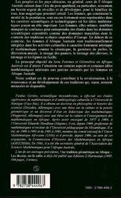 Femmes Et Geometrie En Afrique Australe - 4ème de couverture - Format classique