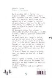 L'Etoile Absinthe - 4ème de couverture - Format classique