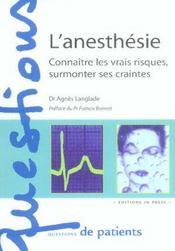 L'anesthesie - Intérieur - Format classique