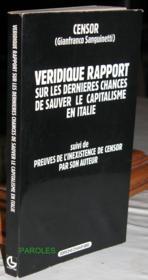 Veridique Rapport Sur Les Dernieres Chances De Sauver.. - Couverture - Format classique