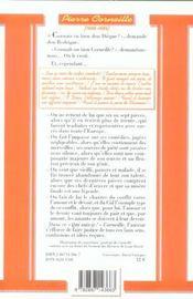 Corneille - 4ème de couverture - Format classique