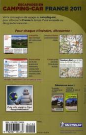 Escapades en camping-car France 2011 - 4ème de couverture - Format classique