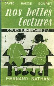 Nos Belles Lectures. Cours Elementaire 2e Annee . - Couverture - Format classique