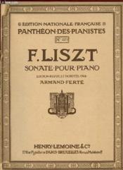 Sonate Pour Piano. - Couverture - Format classique