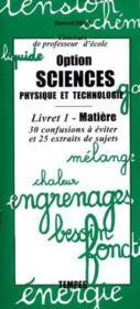 Cpe option sciences physique et technologie ; livret n.1 - Couverture - Format classique