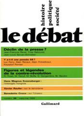 Revue Le Débat N.39 - Couverture - Format classique