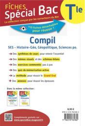 Spécial bac ; compil 2 spécialités ; SES, histoire-géo-géopolitique science po. ; terminale bac (édition 2121) - 4ème de couverture - Format classique