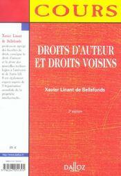 Droits d'auteur et droits voisins (2e édition) - 4ème de couverture - Format classique