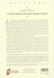 La garde nationale entre nation et peuple en armes ; mythes et realites, 1789-1871 - 4ème de couverture - Format classique