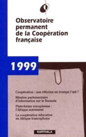 Rapport 1999 - Couverture - Format classique