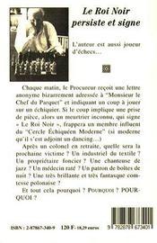 Le Roi Noir Persiste Et Signe - 4ème de couverture - Format classique