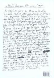 Musee Precaire Albinet - 4ème de couverture - Format classique