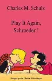 Play it again, Schroeder ! - Couverture - Format classique