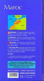 Guides Bleus Evasion ; Maroc - 4ème de couverture - Format classique