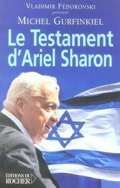 Le testament d'ariel sharon - Intérieur - Format classique