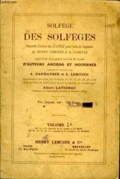 Solfege Des Solfeges Volume I A - Couverture - Format classique