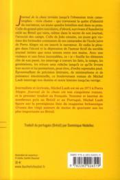 Journal de la chute - 4ème de couverture - Format classique
