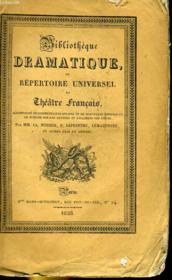 BIBLIOTHEQUE DRAMATIQUE, ou REPERTOIRE UNIVERSEL DU THEATRE FRANCAIS avec des remarques, des notices, et l'examen de chaque pièce - Auteurs du dix-huitième siècle TOMME XXXI, BEAUMARCHAIS, TOME I (sur la page de titre) ou TOME XIII (sur le dos - Couverture - Format classique