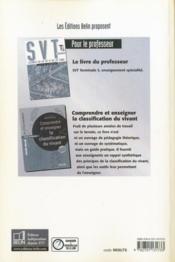 Sciences et vie de la terre ; terminale S ; livre du professeur - 4ème de couverture - Format classique