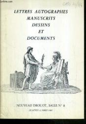 Catalogue De Vente Aux Encheres - Nouveau Drouot - Lettres Autographes Manuscrits - Dessins Et Documents - Salle 8 - 12 Mars 1984. - Couverture - Format classique