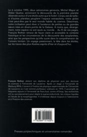 La fascination des ailleurs ; chasseurs de planètes - 4ème de couverture - Format classique