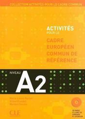 Activites pour le cadre europeen commun de reference a2 - Intérieur - Format classique
