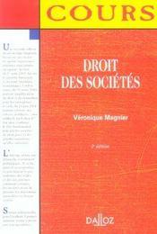 Droit Des Societes - Intérieur - Format classique