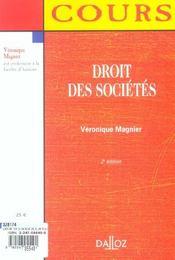 Droit Des Societes - 4ème de couverture - Format classique
