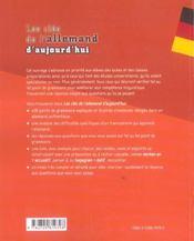 Les Cles De L'Allemand D'Aujourd'Hui 408 Reperes Grammaticaux - 4ème de couverture - Format classique