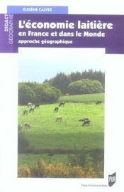 L'economie laitiere en france et dans le monde approche geographique - Intérieur - Format classique