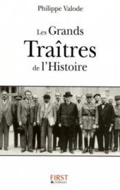 Les grands traîtres de l'histoire - Couverture - Format classique