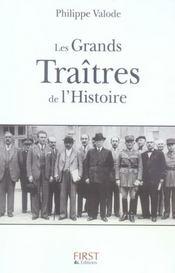 Les grands traîtres de l'histoire - Intérieur - Format classique